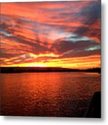 The Red Sky Metal Print