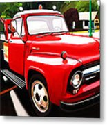 The Red Tow Truck Metal Print
