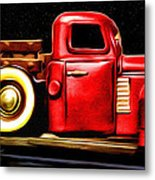 The Red Truck Metal Print