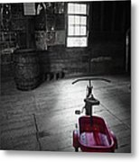 The Red Wagon Metal Print