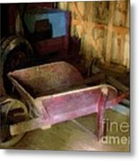 The Red Wheelbarrow Metal Print