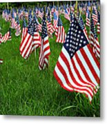 The Red White And Blue  American Flags Metal Print