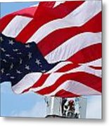The Red White And Blue Metal Print