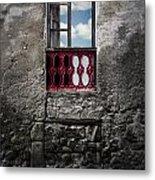 The Red Window Metal Print