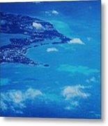 Bermuda Blue, Aerial Metal Print