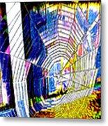 The Refracted Cobweb Metal Print