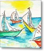 The Regatta Metal Print by Brenda Ruark