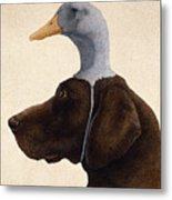 The Reluctant Retriever... Metal Print