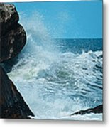 The Restless Sea Digital Art Metal Print