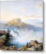 The Rhine Falls At Schaffhausen Metal Print