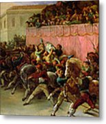 The Riderless Racers At Rome Metal Print