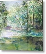 The River Going Out From The Forest Metal Print