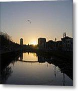 The River Swiffey At Sunrise - Dublin Ireland Metal Print