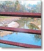 The River Through The Rails Metal Print