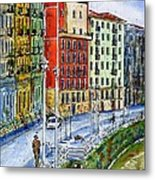 The Riverside Houses At Bilbao La Vieja Metal Print