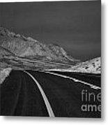 The Road Ahead-infrared Metal Print