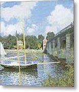 The Road Bridge At Argenteuil Metal Print