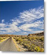 The Road Goes On Forever Metal Print