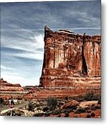 The Road Through Arches Metal Print
