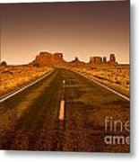 The Road To Monument Valley -utah  Metal Print