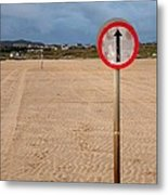 The Road To Omey Island Metal Print