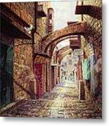 The Road To The Cross  Jerusalem Metal Print