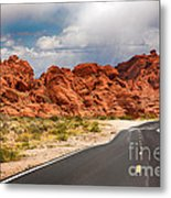 The Road To The Valley Of Fire Metal Print