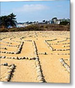 The Rock Maze Santa Barbara Metal Print