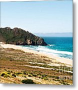 The Rock Of Piedras Blancas Lighthouse In San Simeon Ca Metal Print
