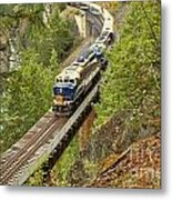 The Rocky Mountaineer Above The Cheakamus River Metal Print