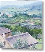 The Rolling Hills Of Tuscany Metal Print