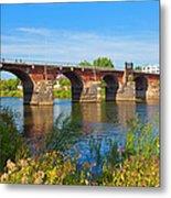 The Roman Bridge Over Mosel River In Metal Print