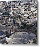 The Roman Theatre In The Middle Of The City Of Amman Jordan Metal Print