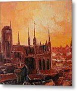 The Roofs Of Gdansk Metal Print