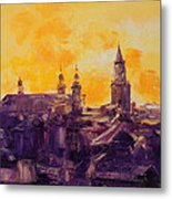 The Roofs Of Lublin Metal Print