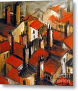 The Roofs Of Lyon Metal Print