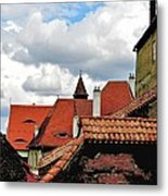 The Roofs Of Sibiu In Transylvania Metal Print