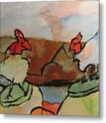 The Roosters Metal Print