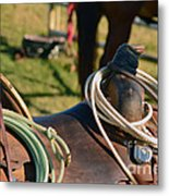 The Ropin Rig Metal Print