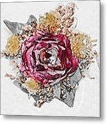 The Rose Metal Print by Susan Leggett