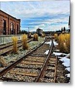 The Roundhouse Evanston Wyoming - 5 Metal Print
