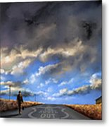 The Route Out Metal Print
