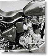 The Royal Enfield Motorbike Metal Print