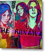 The Runaways - Up Close Metal Print
