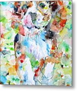 The Running Puppy Metal Print