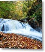 The Rushing Waterfall Metal Print