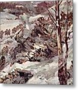 The Russians Fighting Their Way Over The Carpathians Metal Print