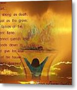 The Sacrifice Of Praise Metal Print