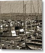 The Sailing Pier Metal Print
