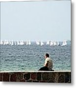 The Sailor With No Boat Metal Print